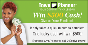 Win $500! Take the 2020 Town Planner Survey.