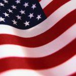 Waiving American Flag