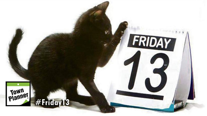 Black cat and friday the 13th calendar
