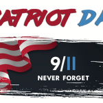 American Flag Art with Patriot Day and 9-11 Never Forget